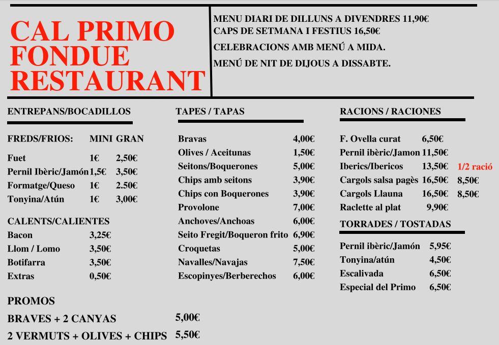 Imágenes de Cal Primo fondue restaurant